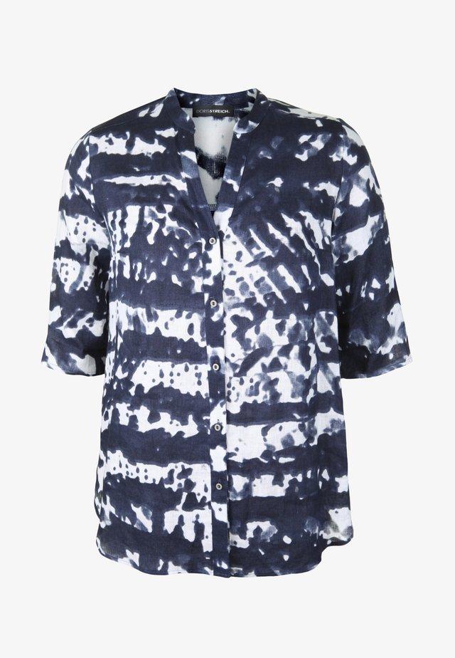 BLUSE MIT MAO-KRAGEN - Button-down blouse - marine