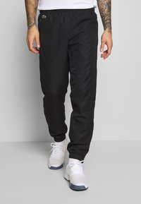 Lacoste Sport - TRACKSUIT HOODED - Tracksuit - black/white - 3