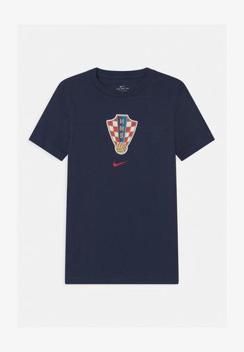 KROATIEN EVERGREEN CREST - Print T-shirt - midnight navy