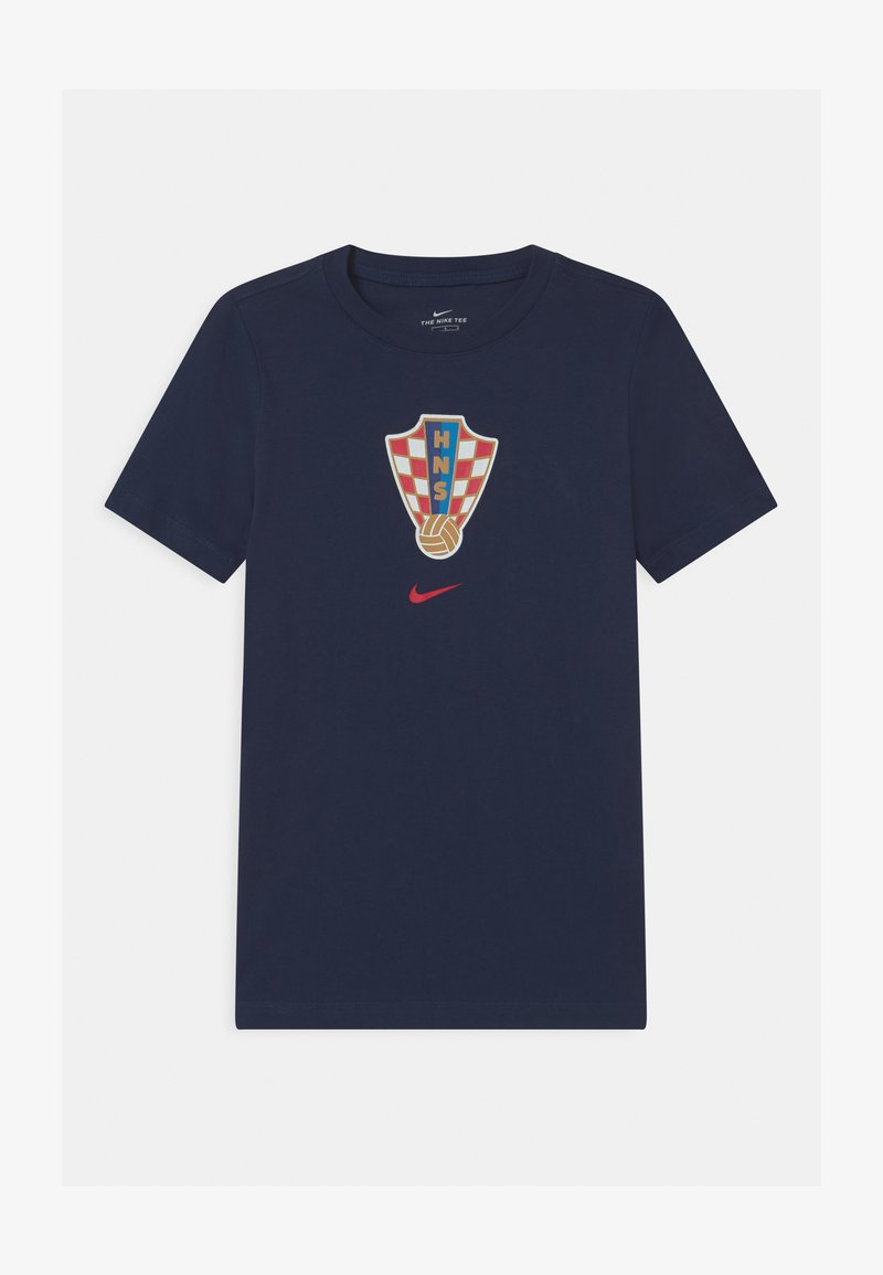 Nike Performance - KROATIEN EVERGREEN CREST - Print T-shirt - midnight navy