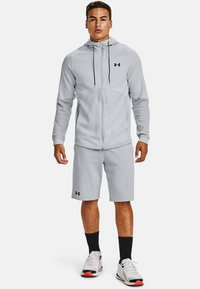 Under Armour - DOUBLE KNIT  - Hoodie met rits - halo gray - 1