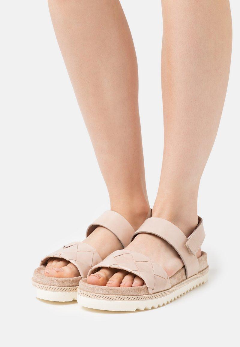 Homers - BIO - Sandales - poncho creme/beige