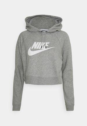 CROP - Sweatshirt - grey heather/white