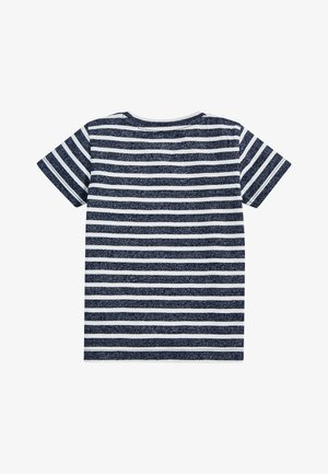 NAVY/WHITE SHORT SLEEVE STRIPED T-SHIRT (3MTHS-7YRS) - Print T-shirt - blue