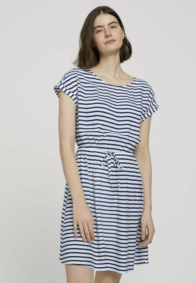 Sukienka letnia - navy white stripe