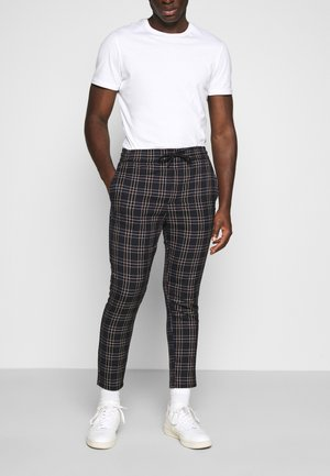 ONSLINUS CROPPEED CHECK PANT - Stoffhose - blues