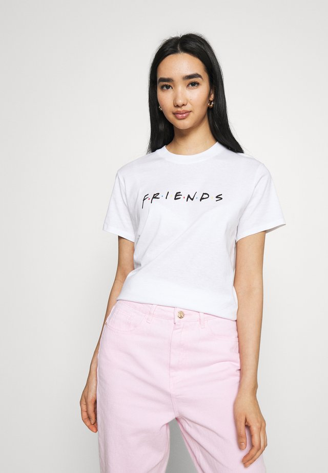 CLASSIC FRIENDS LOGO - T-shirt print - white