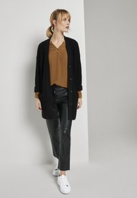TOM TAILOR - BLOUSE SOLID - Blouse - tawny brown - 1