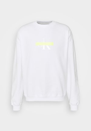 CENSORED RELAXED FIT - Mikina - bright white