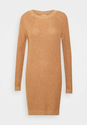NMSIESTA O NECK DRESS - Shift dress - camel melangé