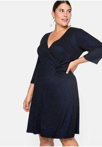 Sheego - Cocktail dress / Party dress - schwarz-blau - 3
