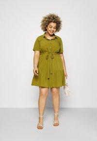 Simply Be - UTILITY SHIRT DRESS - Shirt dress - khaki - 1