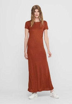 Maxi dress - burnt henna