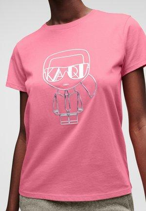IKONIK  - Marškinėliai su spaudiniu - 510 pink