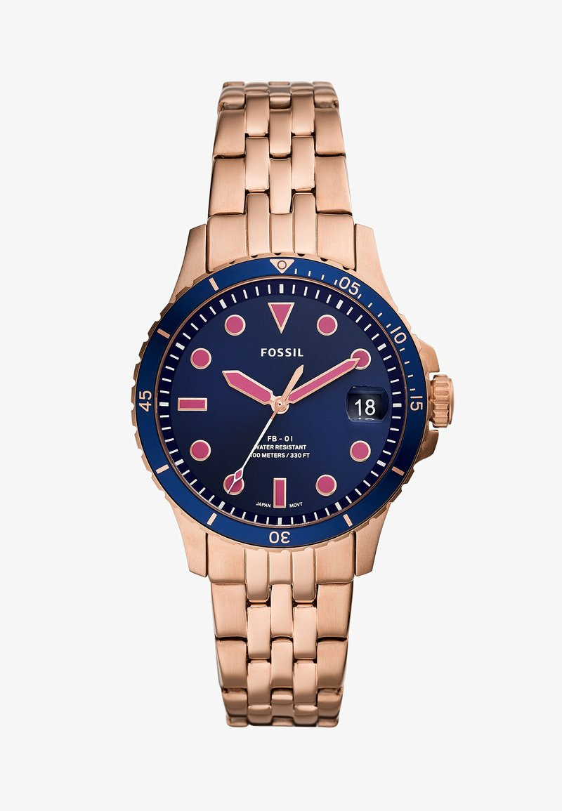 Fossil - Klokke - rose gold-coloured