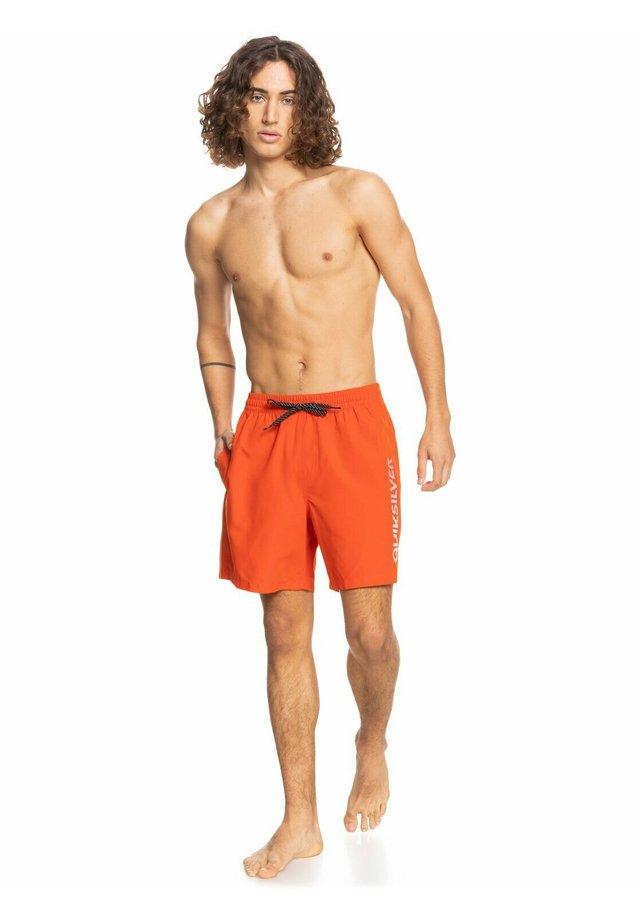 Swimming shorts - pureed pumpkin