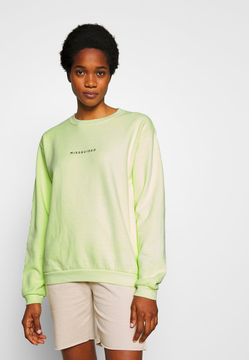 Missguided - WASHED - Sweatshirt - lime