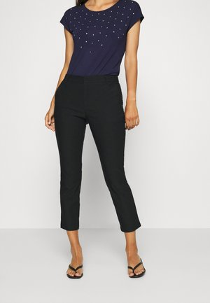 CROPPED SMART TROUSERS - Trousers - black