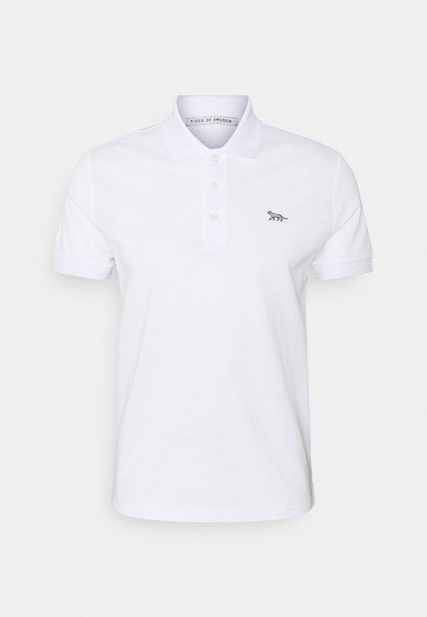 Tiger of Sweden DARIOS - Koszulka polo - pure white/biały Odzież Męska MUYG