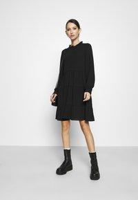 Vero Moda - VMZIGGA FRILL - Shirt dress - black - 1