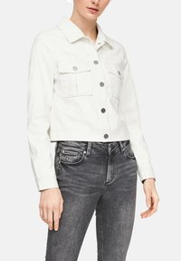QS by s.Oliver - Faux leather jacket - cream - 4
