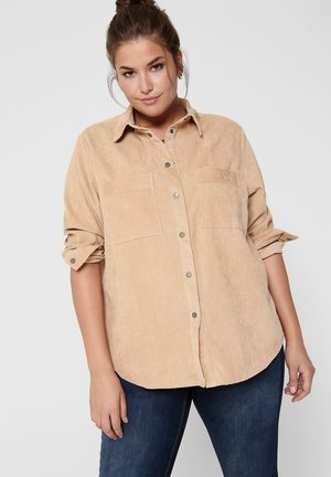 Button-down blouse - ginger root