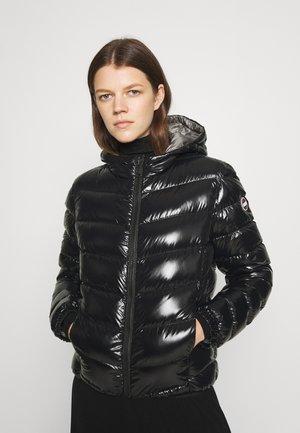 LADIES JACKET HOODED - Gewatteerde jas - black dark steel