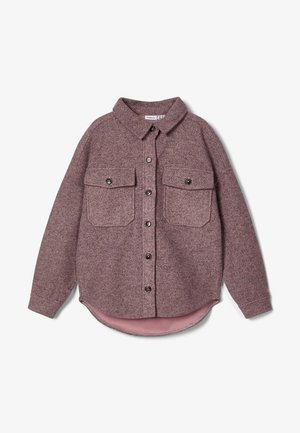 Button-down blouse - adobe rose