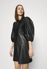 Closet - CLOSET PUFF SLEEVE MINI DRESS - Day dress - black - 3