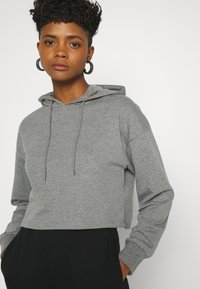 Even&Odd - BASIC - Cropped Hoodie - Hoodie - mottled grey - 3