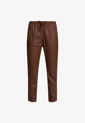 GIFT - Leather trousers - light brown
