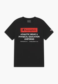 Champion - CHAMPION X ZALANDO BOYS PERFORMANCE TEE - T-shirt print - black - 0