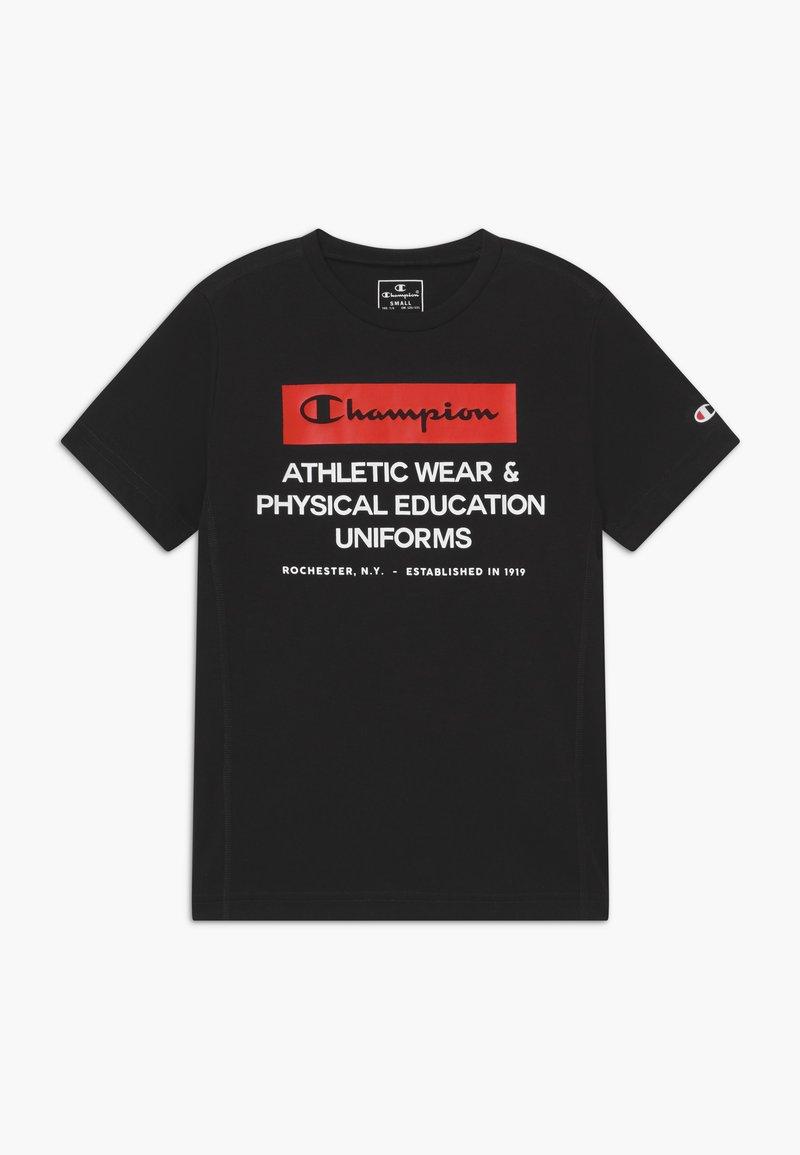 Champion - CHAMPION X ZALANDO BOYS PERFORMANCE TEE - Print T-shirt - black