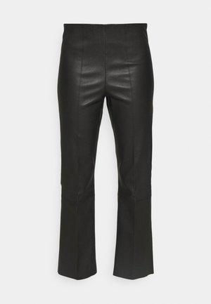 FLORENTINA - Kožené kalhoty - black