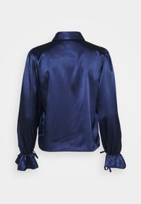 Miss Selfridge - TIE CUFF - Button-down blouse - navy - 1