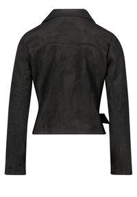 Amber & June - MIT GÜRTEL - Leather jacket - schwarz - 4