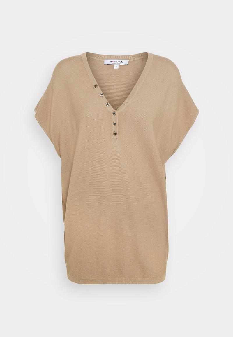 Morgan - Jednoduché triko - chamois