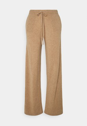 ESSENTIALS WIDE LEG PANT - Tygbyxor - camel