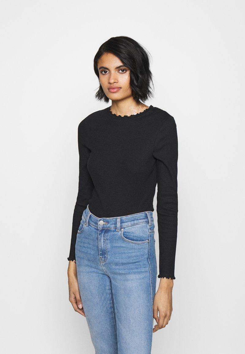 New Look - BABYLOCK TEE - Long sleeved top - black/white