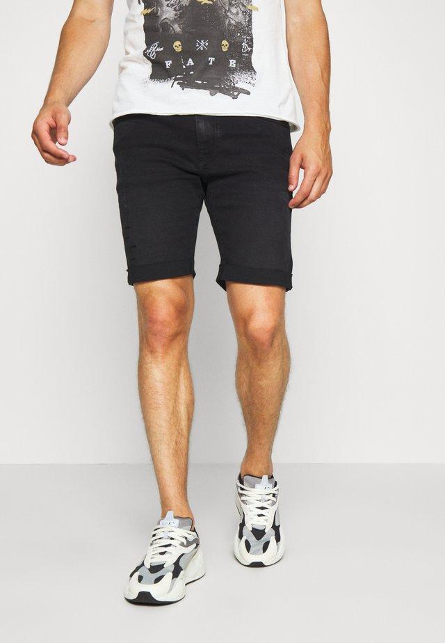 LUJAN - Szorty jeansowe - black