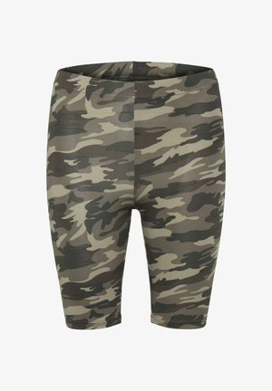 KAANNI - Shorts - green brown army