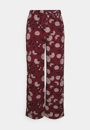 ONLNOVA PALAZZO PANT - Pantalon classique - port royale/white