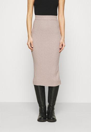 SKIRT - Pencil skirt - stone