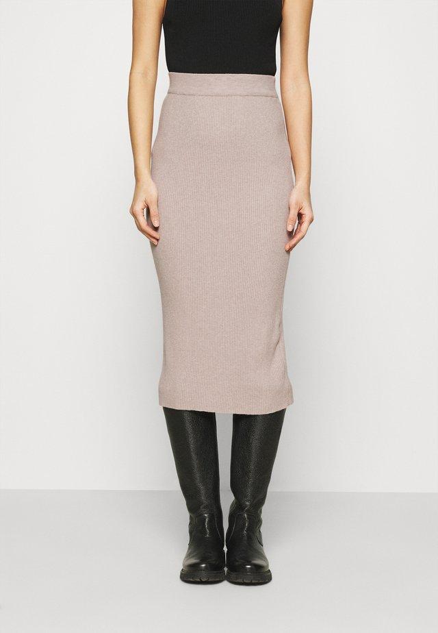 SKIRT - Blyantnederdel / pencil skirts - stone