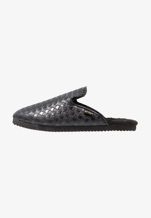 SLIPPER BRAIDED - Domácí obuv - black