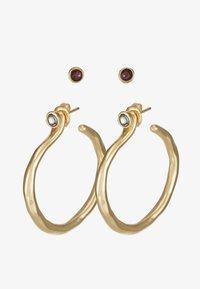 UNOde50 - MY LUCK MEDIUM HOOP EARRING SET - Náušnice - gold-coloured - 1