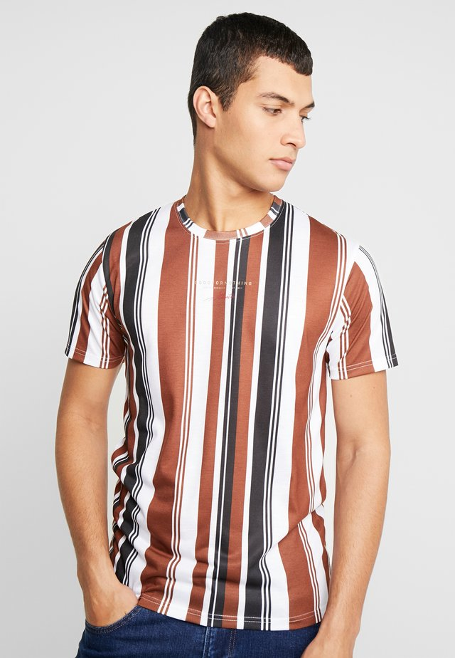 FITTED STRIPE - T-shirt imprimé - tan