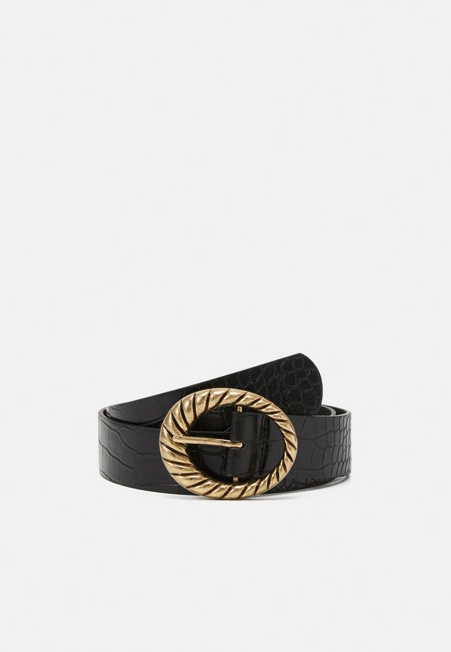 PCDIMA BELT - Pasek - black/gold-coloured