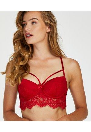 Underwired bra - tango red