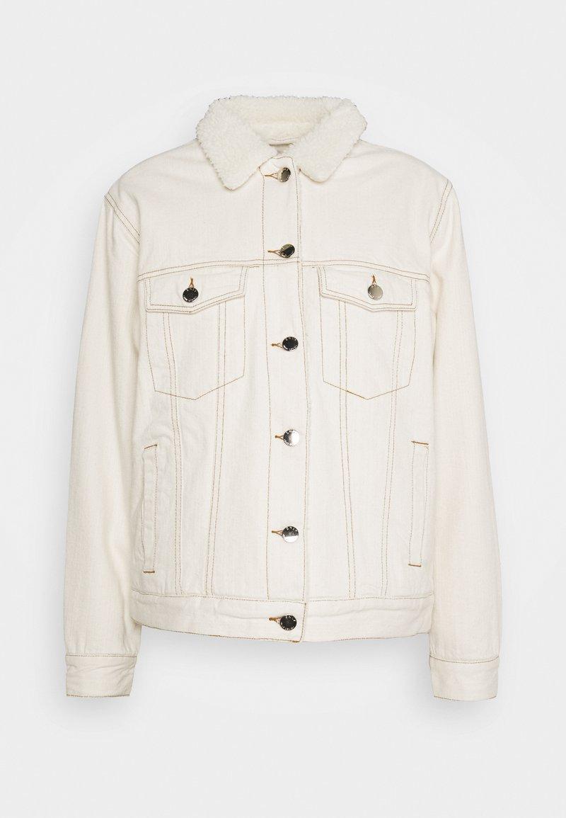 ONLY - ONLCAROLINE LIFE - Denim jacket - ecru
